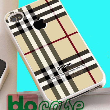 Burberry, Patterns Apple For Iphone 4/4s, iPhone 5/5s, iPhone 5C, iphone 6, and iPhone 6 Plus Case