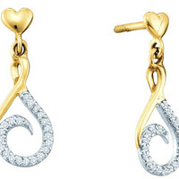Diamond Fashion Earrings in 10k Gold 0.13 ctw
