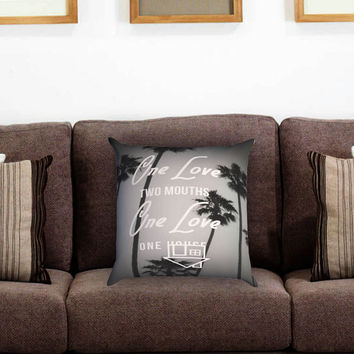 The Neighbourhood Lyrics Pillow Cover , Custom Zippered Pillow Case One Side Two Sides
