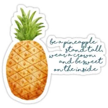 'Be a Pineapple' Sticker by noondaydesign