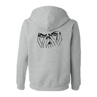 """""""What Doesn't Kill You.."""" Grey - Zip Up Hoodie"""