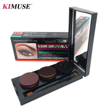 KIMUSE Music Flower Eyeliner Gel & Eyebrow Powder Palette Waterproof 24H Lasting Smudgeproof Cosmetics Eye Brow Enhancers