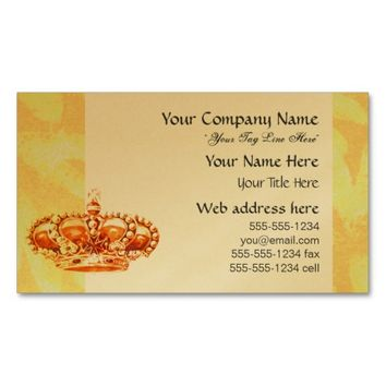 Crown in Gold business cards from Jan4insight* on Zazzle