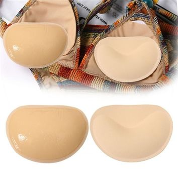 1 Pair Sexy Women Breast Pads Silicone Bra Gel invisible Inserts Push Up Bra Insert Breast Bra Cleavage Triangle Pads Enhancer