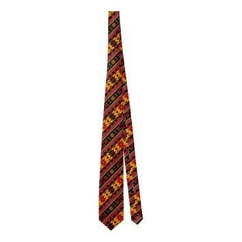 Southwest Design Bold Red Black Gold Tie