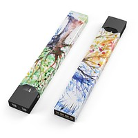 Skin Decal Kit for the Pax JUUL - Abstract Colorful WaterColor Vivid Tree