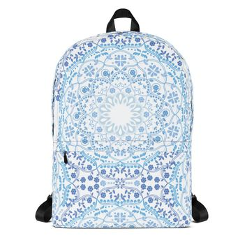 Light Blue Mandala Backpack