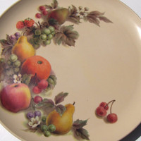 Vintage Melmac Dinner Plates Fruit Set of 4