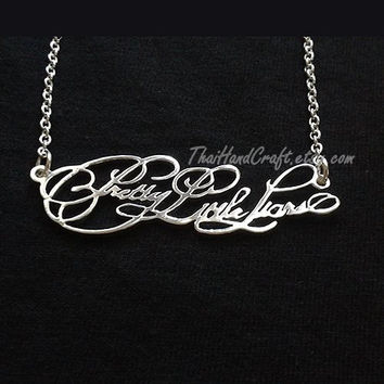 Pretty Little Liars Logo Name Necklace