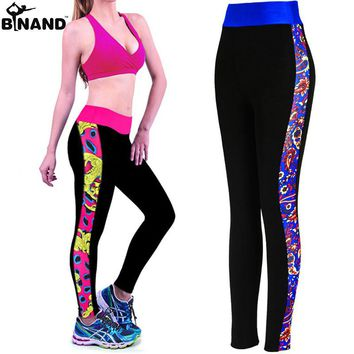 Women Yoga Pants Fitness Tights Leggings 2016 Sexy Patchwork Leggins 4 Size S M L XL Sports