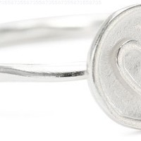 Sterling Silver Circle Heart Ring