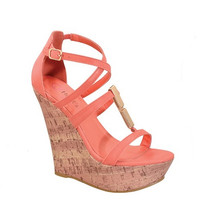 Strap Me In Wedge- Coral