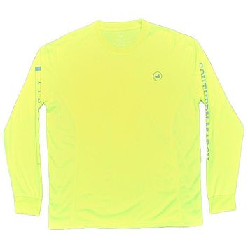 FieldTec Fishing Tee - Long Sleeve in Neon Yellow by Southern Marsh