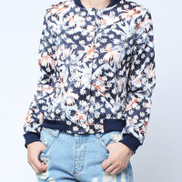 'The Caitlin' Floral Printed Long-sleeve V-neck Jacket