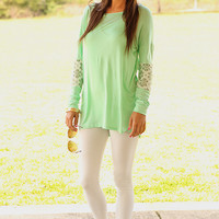 Flower Power Tunic, mint