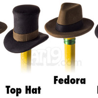 Pencil Eraser Hats: Set of 4 erasers that look like popular hat styles.