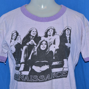 70s Renaissance Rock Band Ringer t-shirt Medium