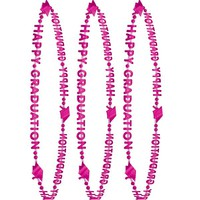 Pink Happy Graduation Bead Necklaces 3ct