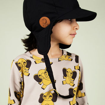Mini Rodini Alaska Cap in Black - 1576010099