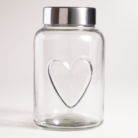 Heart Glass Storage Jar