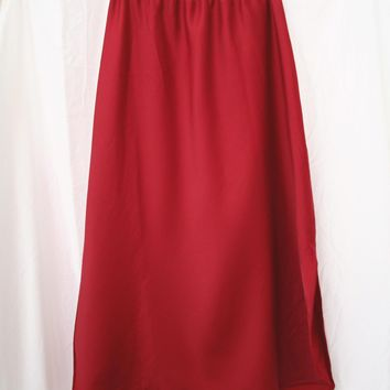 Simply Slinky Slip Skirt in Ruby - Vintage (M/L)