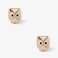 Lacquered Owl Studs
