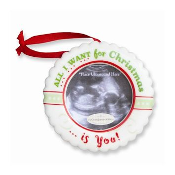 Christmas Ultrasound Ornament- All I want for Christmas is You
