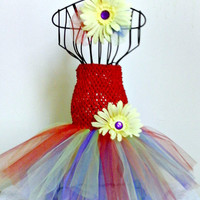 Rainbow Tutu Dress and headband set