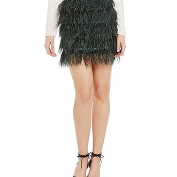 Gianni Bini Ava Feather Skirt | Dillards