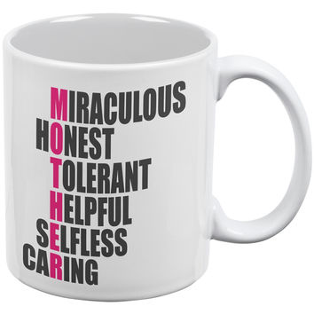 Mother's Day - Acrostic Poem White All Over Coffee Mug