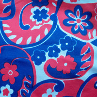 Vintage Patriotic Scarf  Red White and Blue by eclecticnesting