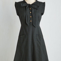 Eco-Friendly Long Sleeveless Fit & Flare Carry On with Confidence Dress in Dots by Mata Traders from ModCloth
