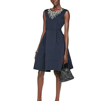Kate Spade Embellished Cambria Dress Ink
