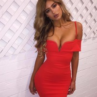 Sexy Strapless Backpack Hip Dress