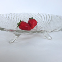 Pressed Glass Footed Dish