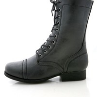 Roadie Combat Boots   Trendy Boots at Pink Ice