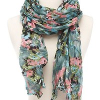 Pastel Floral Lightweight Scarf: Charlotte Russe