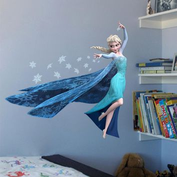 Frozen Free Fall PVC Wall Stickers Removable Decal Mural Art Picture Wallpaper Room Home Decor