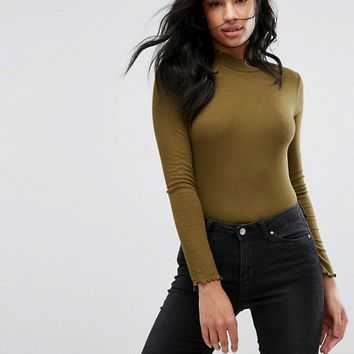 Vero Moda Tall High Neck Top at asos.com