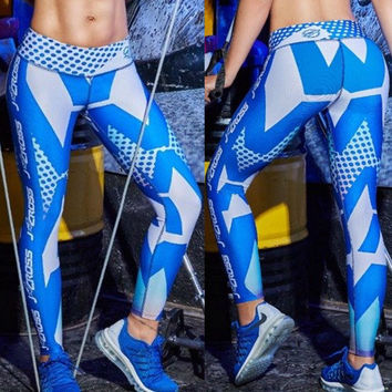 Blue Burst Leggings