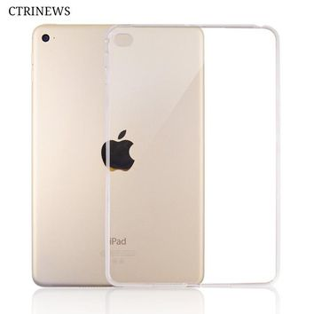 Silicone Cover For iPad Air 2 Air 1 Transparent Soft TPU Case For iPad 4 Mini A1822 Pro 10.5 Tablet Crystal Protective Case Capa