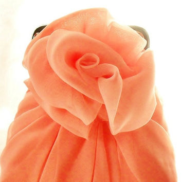 Rose Pink Chiffon Rose Purse - Size Small - Ready To Ship