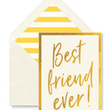 Best Friend Ever Greeting Card, Single Folded Card or Boxed Set of 8