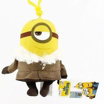 Minions Movie: Ice Village Stuart Backpack Plush Backpack Clip Keychain