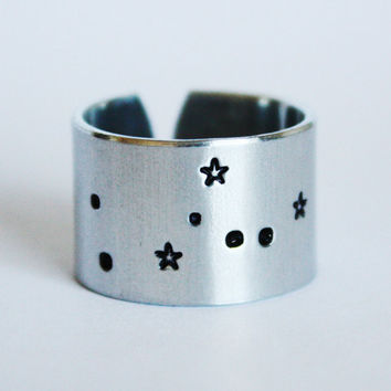 Taurus Zodiac Constellation Ring, taurus ring, zodiac ring, constellation ring, taurus