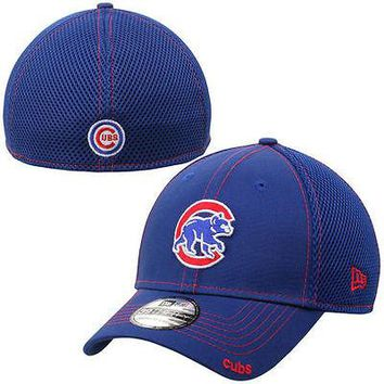 Chicago Cubs New Era Neo 39THIRTY Stretch Fit Flex Mesh Back Cap Hat Walking Cub