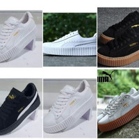 ORIGINAL PUMA BY RIHANNA ~ FENTY CREEPERS |UK 4-9| BLACK| WHITE|