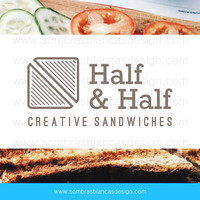 OOAK Premade Logo Design - Sandwich Half - Perfect for a food truck business or a recipe blog