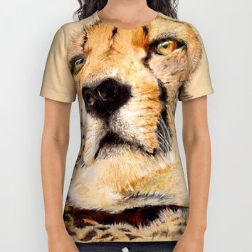 Season of the Cheetah All Over Print Shirt by michael jon
