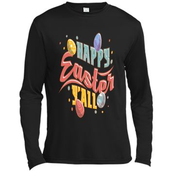 Easter Tshirts Outfits For Women Men Kids Happy Easter YAll Long Sleeve Moisture Absorbing Shirt